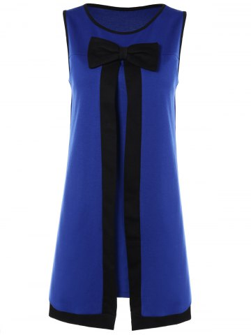Hot Bowknot Sleeveless A-Line Dress