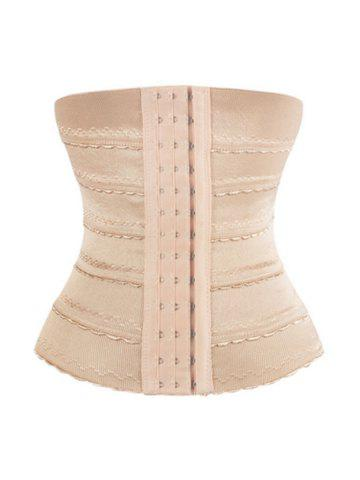 Shop Breathable Lace Panel Corset Training - S COMPLEXION Mobile