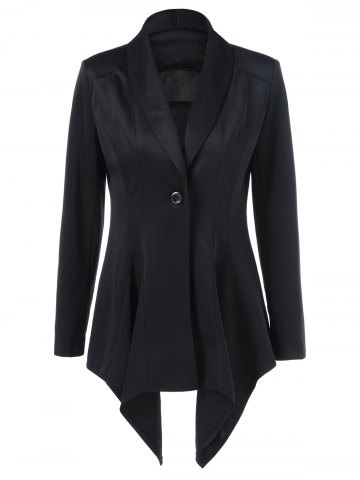 Fancy Shawl Collar Asymmetrical Blazer