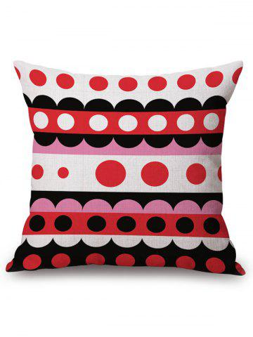 Outfits Multi Circle Print Linen Office Chair Sofa Pillow Case
