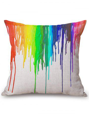 Colorful Splash Ink Square Throw Pillow Case - COLORMIX