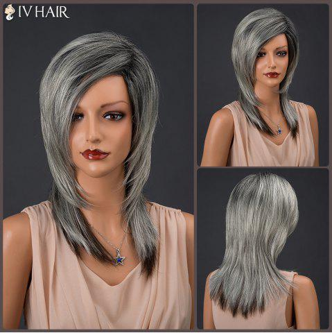 Buy Long Colormix Inclined Parting Straight Siv Human Hair Wig