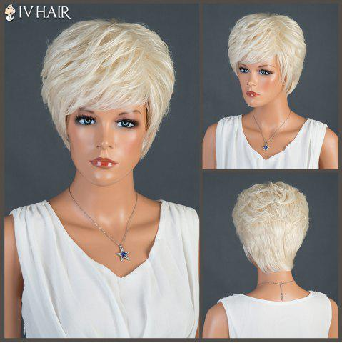 Best Short Oblique Bang Straight Layered Siv Human Hair Wig