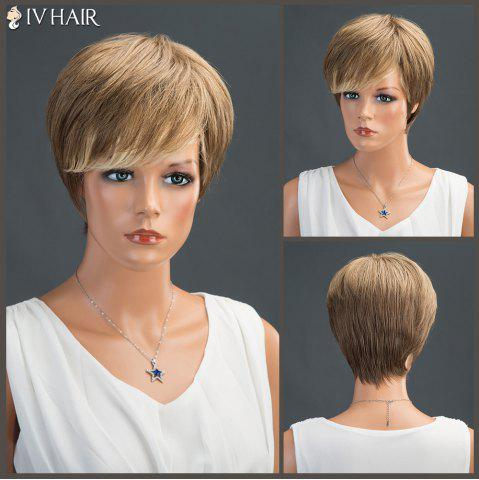 Latest Short Side Bang Layered Straight Siv Human Hair Wig