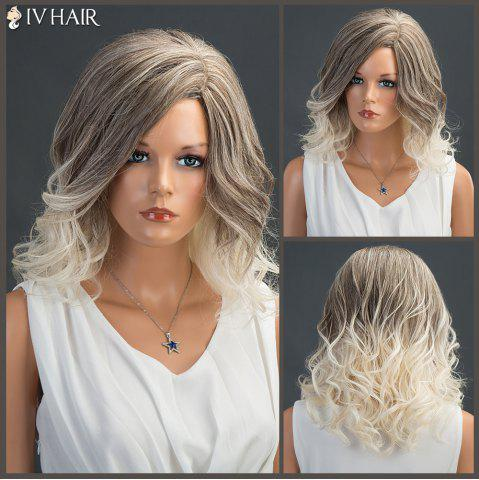 Shop Medium Wavy Colormix Layered Fluffy Side Parting Siv Human Hair Wig