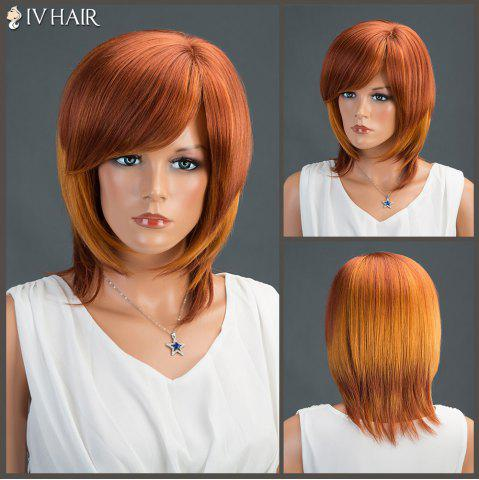 Affordable Medium Inclined Bang Straight Siv Human Hair Wig