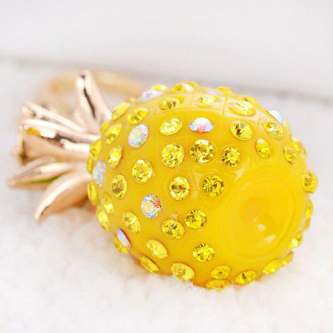Affordable Rhinestone Pineapple Keyring - YELLOW  Mobile