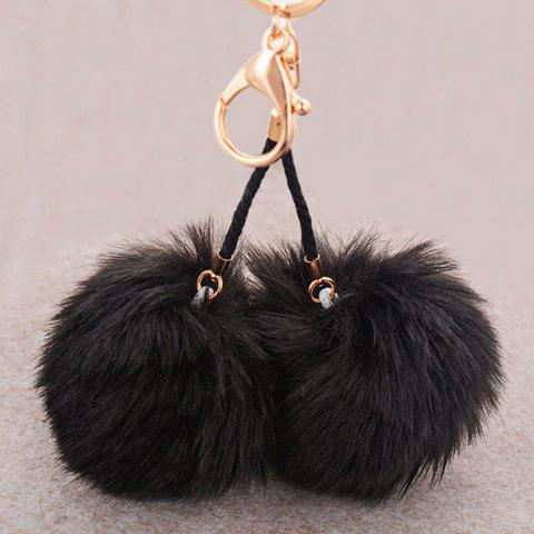 Outfit Fuzzy Ball Keyring Clip Keychain BLACK