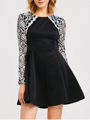 Shop Lace Trim Fit and Flare Dress