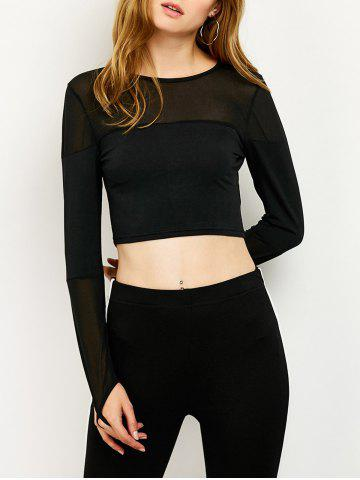 Buy See-Through Cropped Fitting T-Shirt