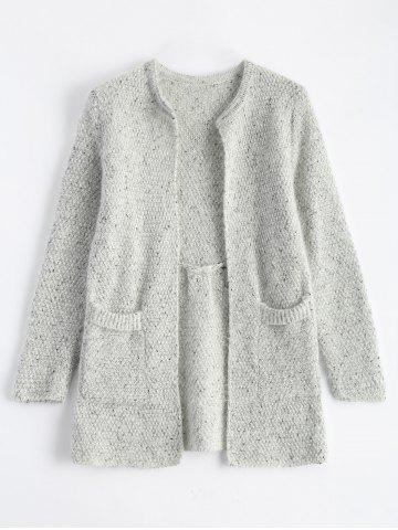 Buy Open Front Knit Cardigan with Pockets