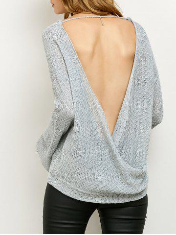 Affordable Cut Out Wrap Loose Knitwear