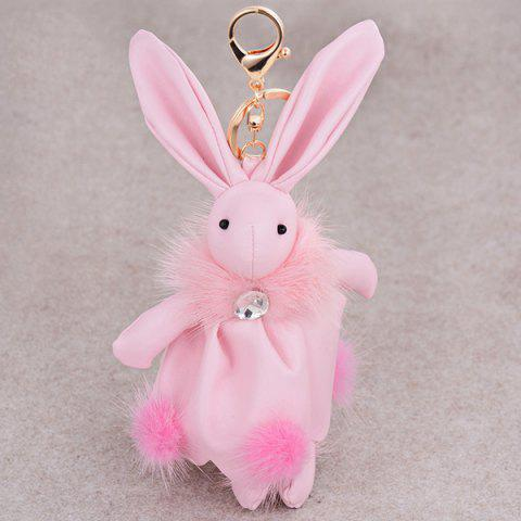 Best Faux Leather Animal Keychains Rabbit Bag Pendant Keyring - PINK  Mobile