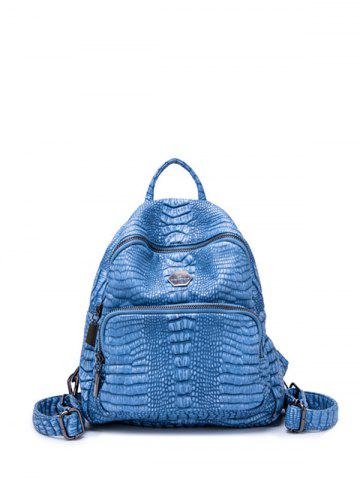 Affordable PU Leather Crocodile Embossed Backpack