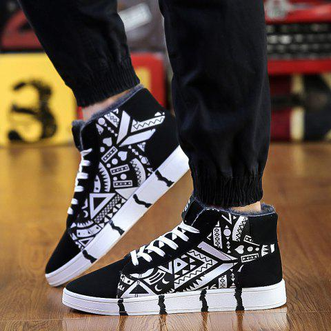 Sale Geometric Pattern Lace-Up Casual Shoes