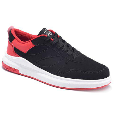 Store Color Block Suede Panel Casual Shoes