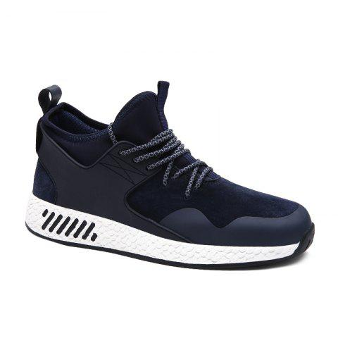 Trendy PU Leather Lace-Up Athletic Shoes