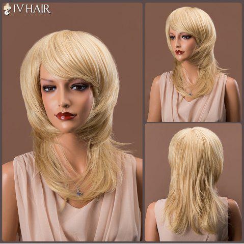 Fancy Medium Tail Adduction Side Bang Straight Siv Human Hair Wig