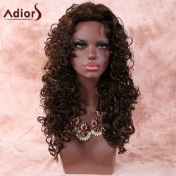 Stylish Deep Brown Long Curly Women's Synthetic Hair Wig -