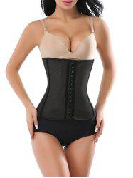 Hook Waist Trainer Corset - BLACK