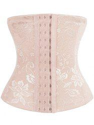 Embroidery Jacquard Waist Trainer Corset - COMPLEXION