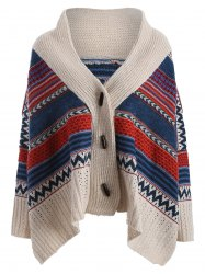 Colored Stripe Christmas Oversized Cardigan -