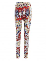 Plus Size Elastic Waist Tribe Print Leggings - COLORMIX 4XL