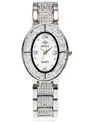 Rhinestone Beads Stainless Steel Watch