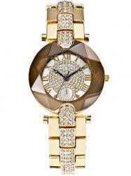 Roman Numerals Dial Plate Rhinestone Watch