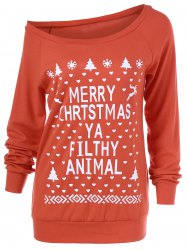 Christmas Tree Skew Collar Sweatshirt