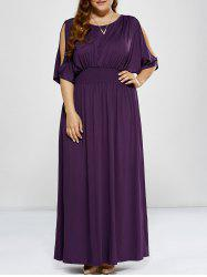 Plus Size Cold Shoulder Long Prom Dress