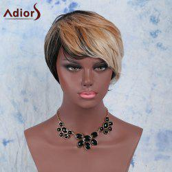 Multi Short Fluffy Wavy Side Bang Heat Resistant Fiber Wig
