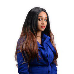 Long Centre Parting Ombre Color Straight Synthetic Wig