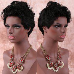 Short Pixie Cut Curly Synthetic Wig -