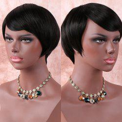 Skilful Short Side Bang Straight Synthetic Wig