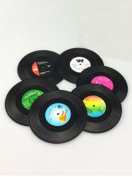 6PCS Skidproof Thermal Insulation Table Vinyl Record Coasters