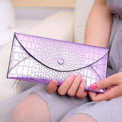 Envelope Style Slim Crocodile Wallet