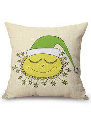 Cartoon Square Sofa Chair Linen Throw Pillow Case -