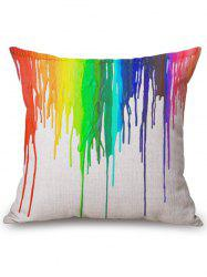 Colorful Splash Ink Square Throw Pillow Case