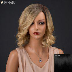 Siv Hair Short Side Bang Curly Real Natural Hair Wig