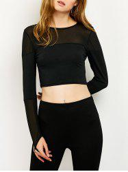 See-Through Cropped Fitting T-Shirt -