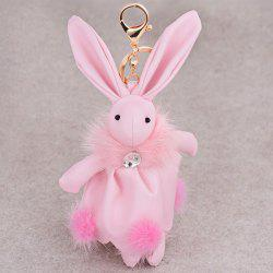 Faux Leather Animal Keychains Rabbit Bag Pendant Keyring -