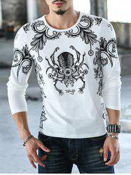 Casual Round Neck Printed T-Shirt