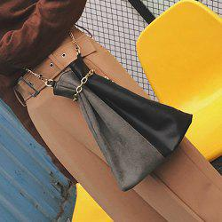 Convertible Chains Color Block Crossbody Bag