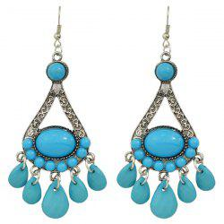 Enamel Waterdrop Fringe Dangle Earrings