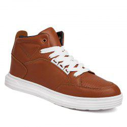 Lace-Up PU Leather Casual Shoes -