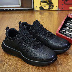 Lace Up Mesh Panel Casual Shoes