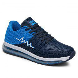 Air Cushion Color Block Mesh Athletic Shoes - BLUE