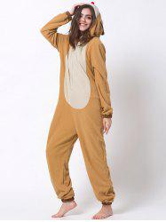 Hooded Cartoon Reindeer Animal Cosplay Pajamas