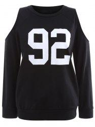 Cold Shoulder 92 Graphic Sweatshirt